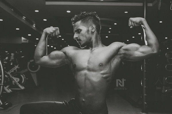 Body building portfolio photoshoot
