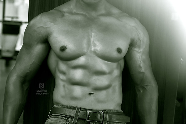 Six pack ripped abs with heavy body muscle