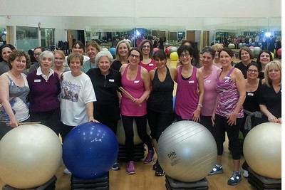 Fitness and Fun: Sisterhood Drums Alive Class at the JCC, January 27, 2015