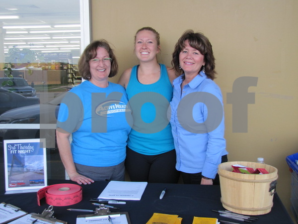 Ann Halbur of Active Health, Amber Kastler, dietician with HyVee, and Kim Schaeffer of HyVee Drug.