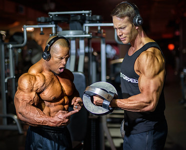 IFBB Pro David Henry and Michael Wittig IPE    Natural Masters World Champion
