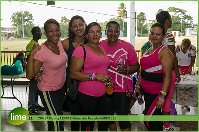 ZUMBA party by LEONCE fitness club featuring KAREN LEE.