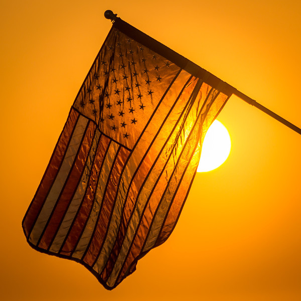 Sun and American Flag