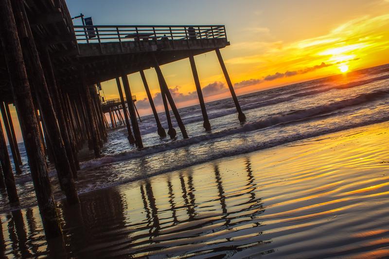 Sunset and Pier, Pismo Beach, California