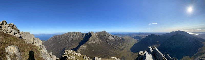 This was the first time I'd climbed Cìr Mhòr in Arran's northern mountains. The conditions were perfect!