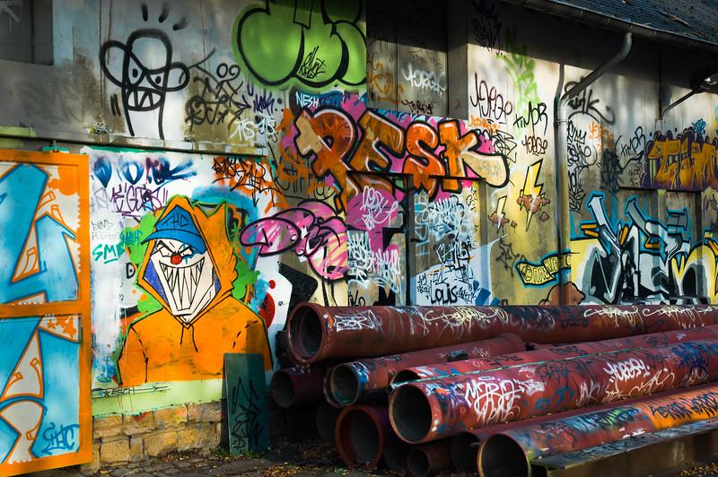 Graffiti in Hollerich Luxembourg