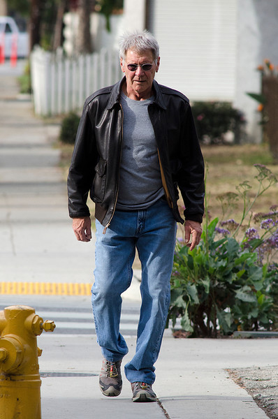 Harrison Ford Takes a long walk