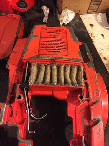 Repaired obsolete air filter
