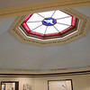 The ceiling in the original section of the Thayer Memorial Library in Lancaster had been damaged and they had to call in an expert to get it fixed. A view of the fixed ceiling. SENTINEL & ENTERPRISE/JOHN LOVE