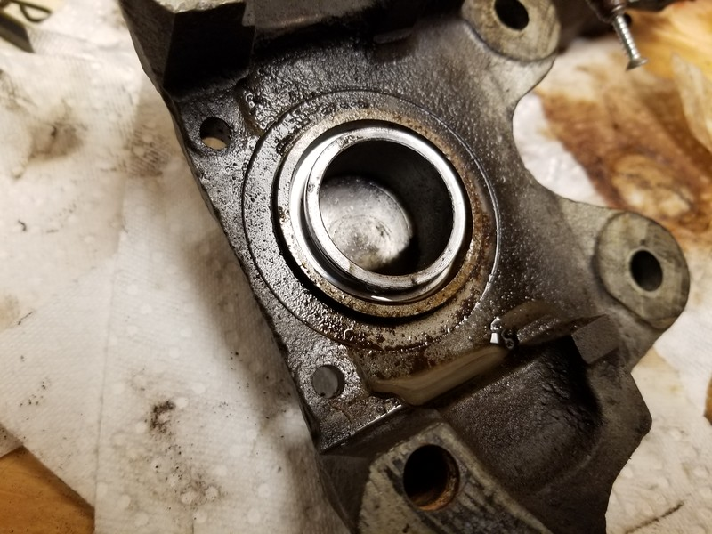 To remove the pistons, just blow them out with compressed air. And they come out like a shotgun.. so keep that in mind if you have to do this..However, this one would NOT come out..with 125 pounds of air pressure... oh well, sending them back for core charge credit ..