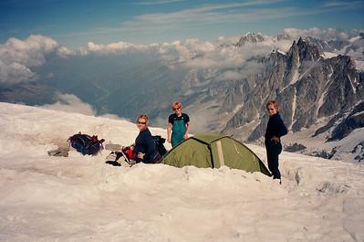 Tjaldbúðir á við Göterskálann á leiðinni á Mt.Blanc
