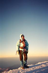 Hildur á Toppnum á Mt.Blanc