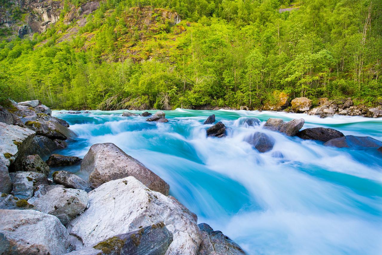Glacier River Colors, Norway