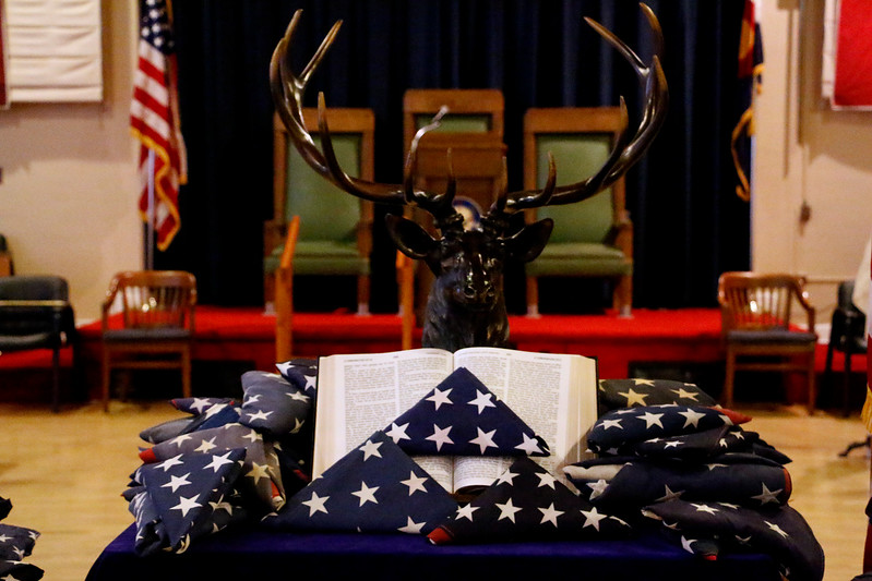 Elks Lodge 1051 hosted a Flag Day ceremony to retire US Flags on Wednesday evening, June 14, 2017. (Michelle Risinger/ Loveland Reporter-Herald)