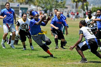 Running for touchdown.