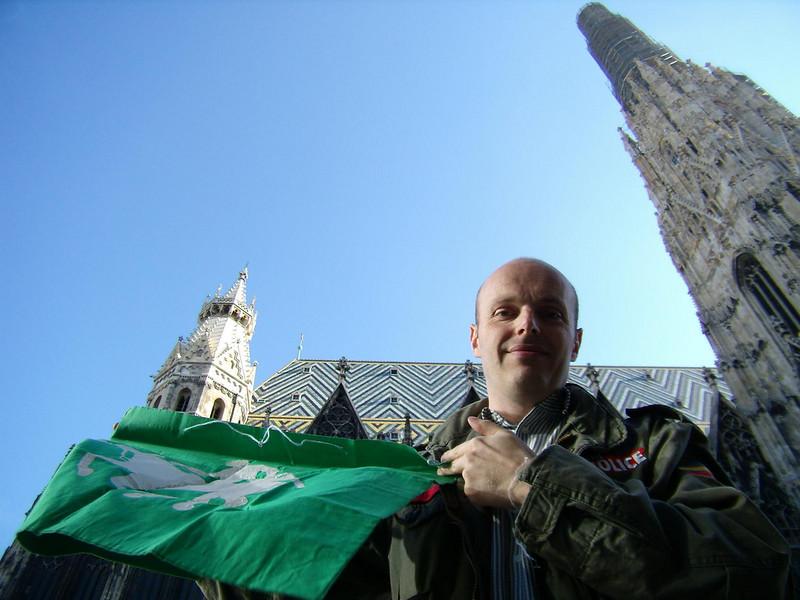 The Flag, The Dietmar, The Stephansdom<br /> <br /> <br /> (photo courtesy of Dietmar)