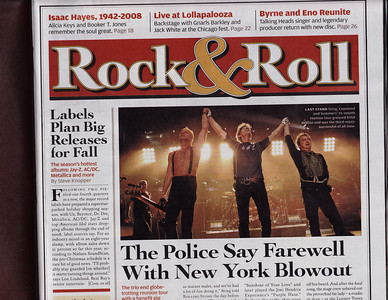 September 4, 2008 issue (#1060), Rolling Stone: The Flag accidentally, coincidentally happens to vaguely appear in print in the haze next to Stewart's drumkit.