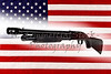 Shotgun Police Pump Action Made in USA with American Flag