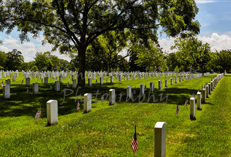 United States Flag on Grave Sites