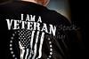 Back of Man's Tshirt saying I am a Veteran