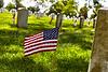 United States Flag on Gravesite