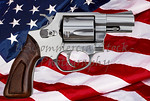Gun control rights weapon USA American flag concept