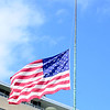 State Department flag at half mast for victims of the Boston Marathon bombing, 2013.