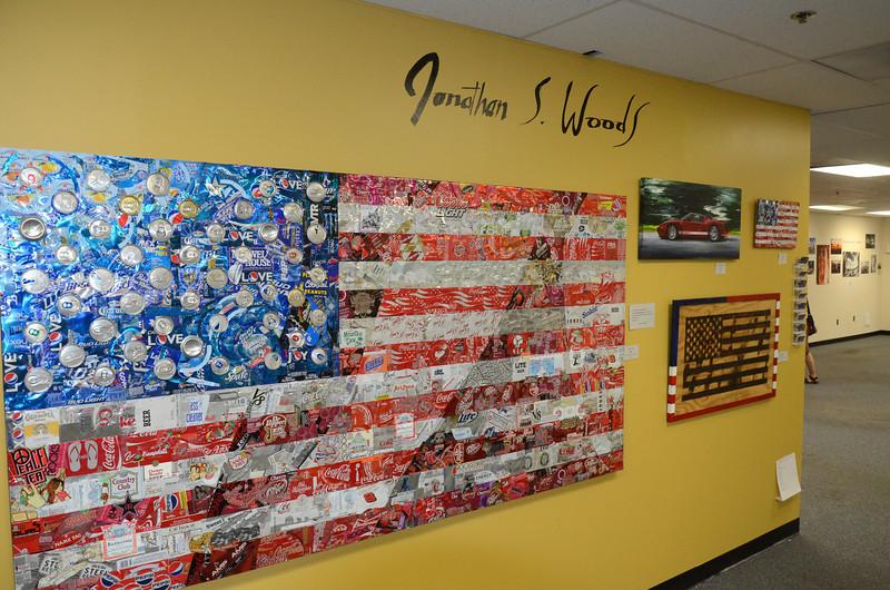 Can flag, Rosslyn, VA, 2012.