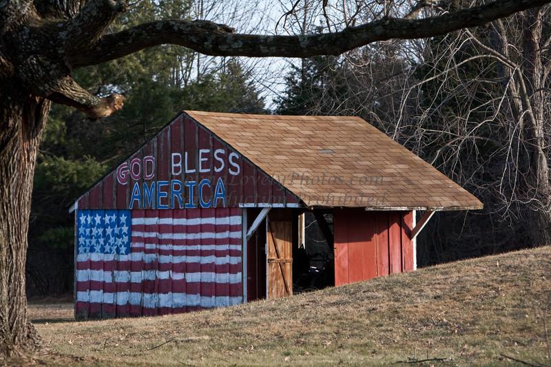 God Bless America Barn, Bucks County, PA