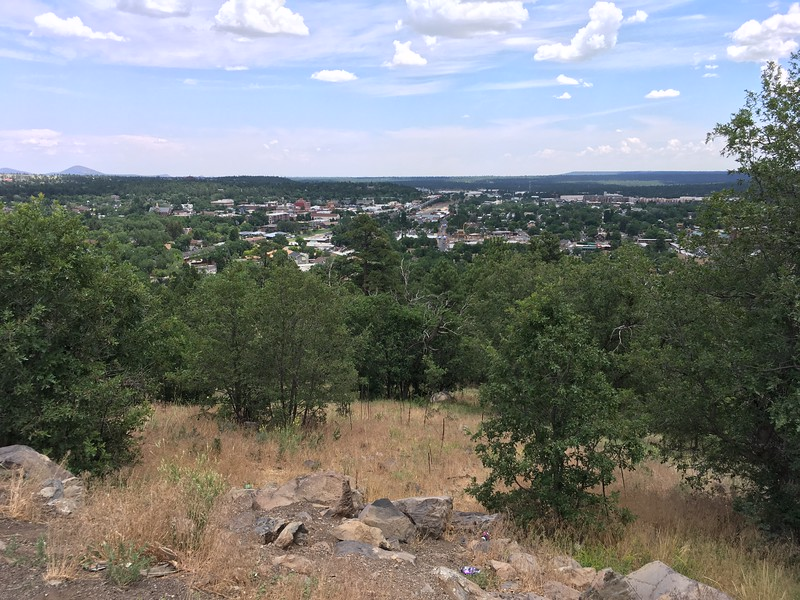 View of Flagstaff from Mars Hill (2017)