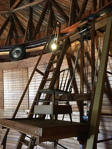 Observation chair inside main telescope at Lowell Observatory - 2017