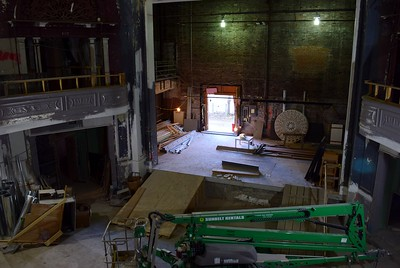 The view of the stage from upstairs at the Flagstar Strand Theatre for the Performing Arts on Wednesday, Oct. 19, 2016.