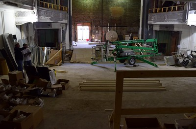 The main theater under construction at the Flagstar Strand Theatre for the Performing Arts on Wednesday, Oct. 19, 2016.