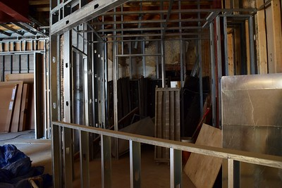 The ticket booth, under construction at the Flagstar Strand Theatre for the Performing Arts on Wednesday, Oct. 19, 2016.