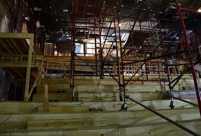 The upper-seating area under construction inside the Flagstar Strand Theatre for the Performing Arts on Wednesday, Oct. 19, 2016.