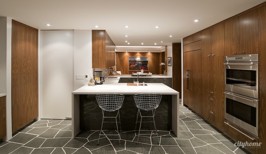 Unfading Green Irregular Flagstone Kitchen