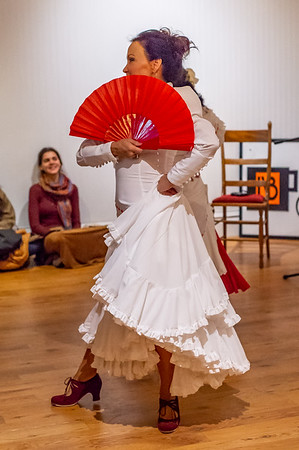Flamenco show with Sali Gutierrez and her students at La Bella Vita on April 8, 2018.  Show also featured Steve Mullins, guitar, and Marisol, cantaora.