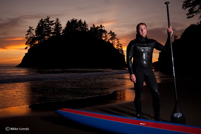 John Warner after a nice sunset session near Trinidad California.