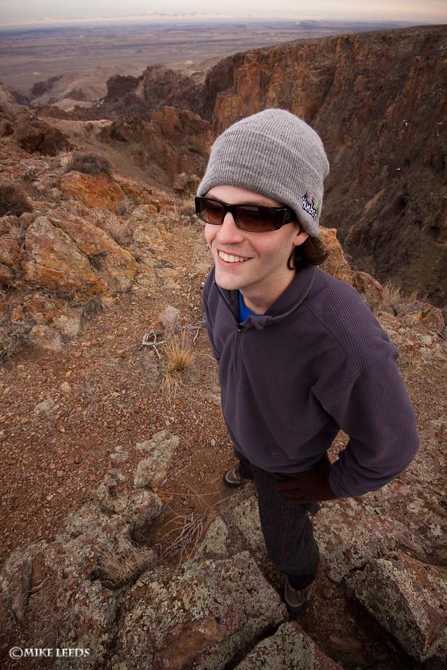 My brother John at Jump Creek Canyon, Idaho.