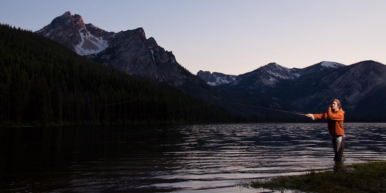 Brian Ward fishing in Stanley Lake