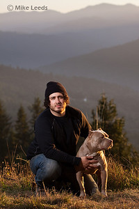 Joel and his dog Flawless on a November evening