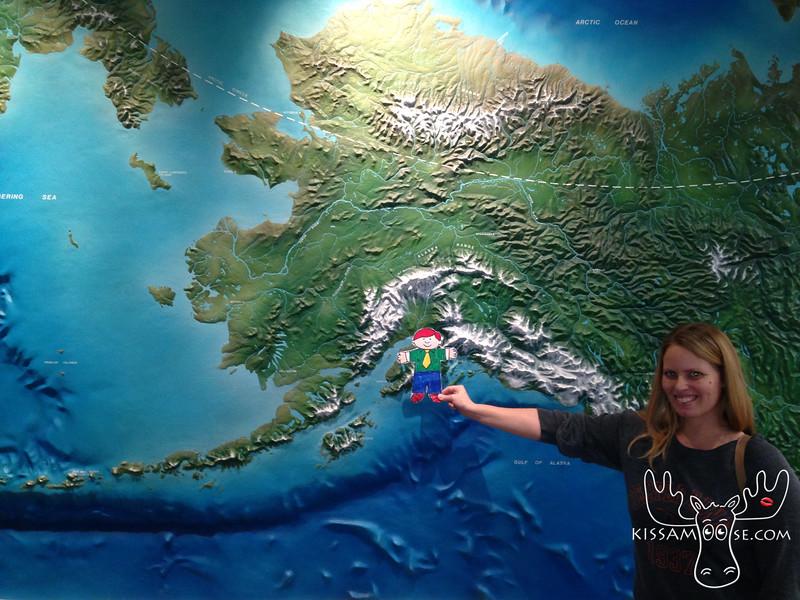Anchoage, Alaska on the map.