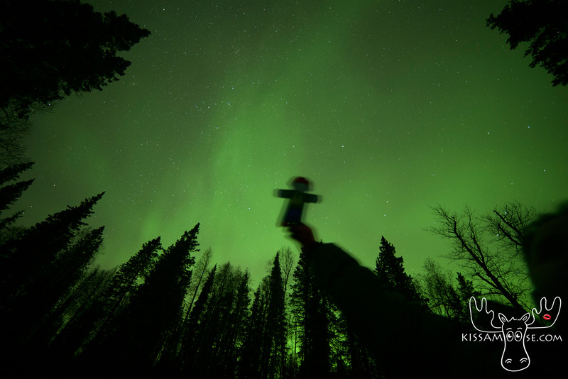 Flat Buchanan sees the Northern Lights  for the first time!