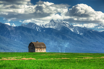 Ronan Barn Mission Mountains Ronan, Montana
