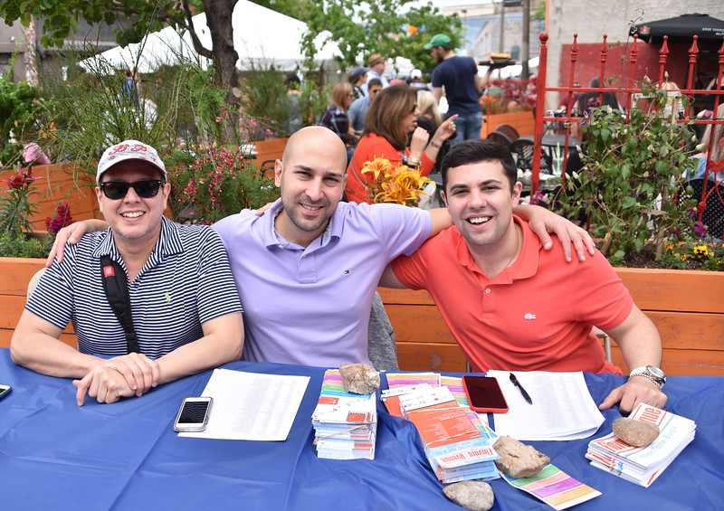 Oscar Cabrera, Christopher DiCapua, and Michael Giangiordano at the East Passyunk Information Table