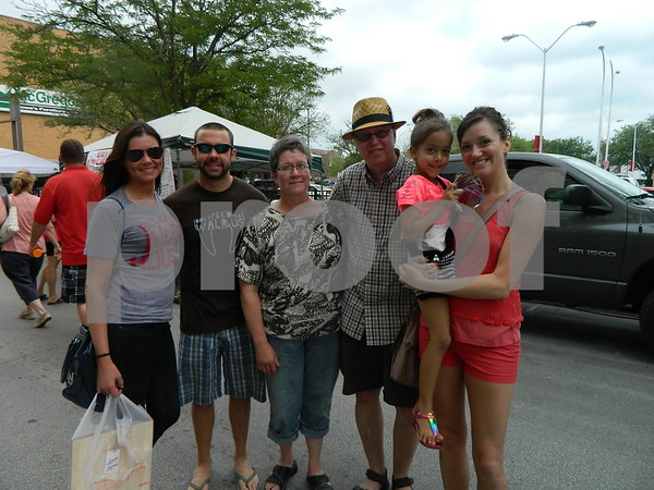 Left to right: Beth Riley, Eric Gramenz, Beth and Ron Battcher, Lydia Battcher, and Aneliese Mendez