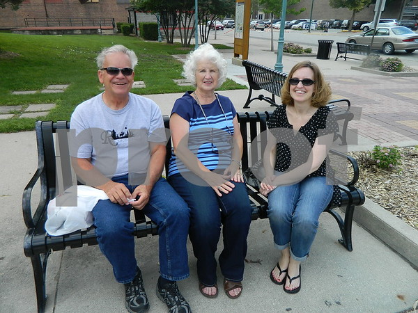 Right to left: Stacy Schwan, Ronda and Jim Ripperger