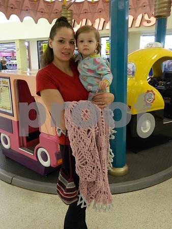 Azalea and Shannon enjoying a nice day at the mall.