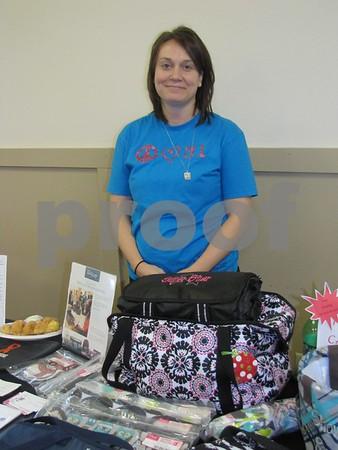 Cheri Beckley, 31 representative, at her booth.