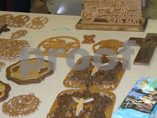 Intricate wood cuts.